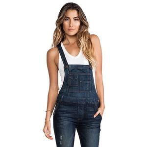 💗FREE PEOPLE Washed Denim Overalls💗